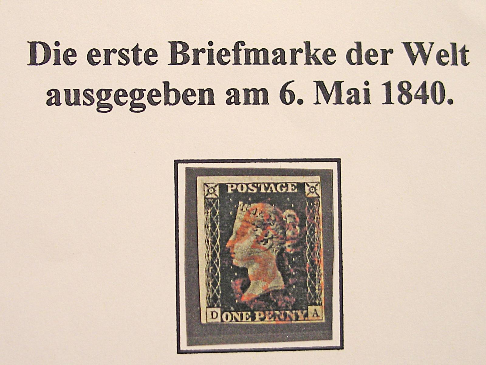 Die erste Briefmarke der Welt